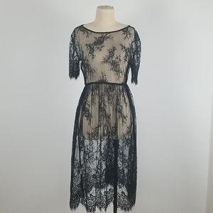 Black Mesh Lace Dress S/M- 3 for $25